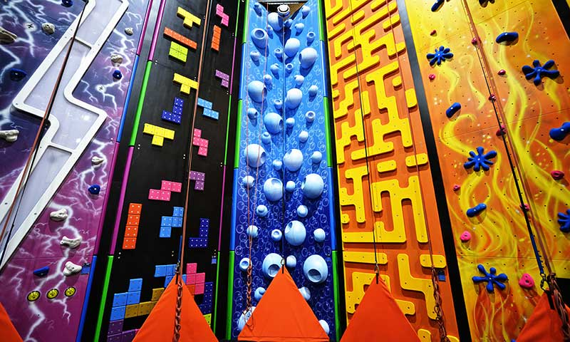 16 climbing walls to choose from!